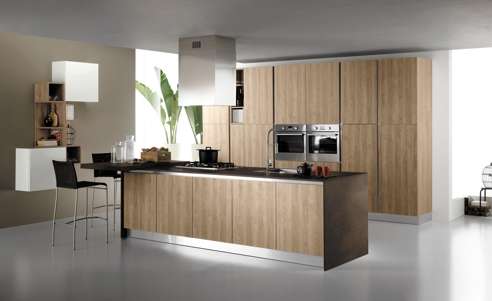 cucina moderna con ante in vetro mobilturi mod stratos ...